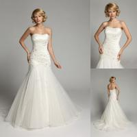 Wholesale Beaded Crystal Backless Sweetheart Wedding Gowns Long Train Bridal Gowns from china suppliers