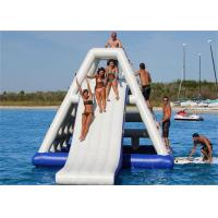 Wholesale High Class Giant Inflatable Slide , Inflatable Floating Water Slide For Seaside from china suppliers