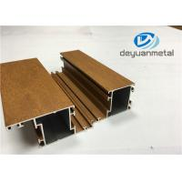 Wholesale 1.1mm - 1.6mm Thickness Wooden Grain Aluminum Window Extrusion Profiles SGS from china suppliers