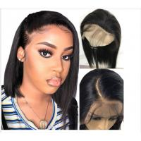 10 Inch Glueless Straight Full Lace Human Hair Wigs With Baby Hair Short for sale