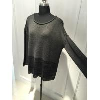 Raw Edge Wool Acrylic Batwing Long Sleeve Loose Knit Sweater 15JT001
