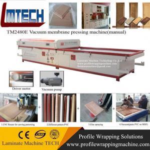 China PVC kitchen cabinet doors price vacuum membrane press machine on sale