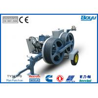 Wholesale 1200mm Bull-wheel Diesel 48kw(85hp) Hydraulic Pull Tension Machine 35kn 3.5t Diesel Cummins from china suppliers