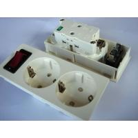 Wholesale Germany Double Electric Power Sockets Power Outlet With Switch Control from china suppliers
