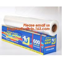 Newly design household food grade excellent quality factory price cling film, pe food plastic wrap for sale