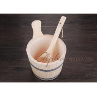 Buy cheap Nordic Spruce White Pine Sauna bucket With Matel Belt and ladles from Wholesalers