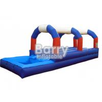 Wholesale Blue / Red / White Double Lane Inflatable Slip N Slide With Pool Animal Theme from china suppliers