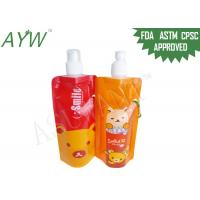 Wholesale Food Liquid Pouch PackagingFor Kids Beverage , Plastic Liquid Bags With Reusable Zip Lock from china suppliers