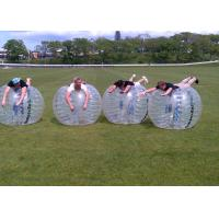 Wholesale Outdoor Inflatable Toys 0.8mm PVC 1.5m Air Bunmper Ball Body Zorb Ball For Adult from china suppliers