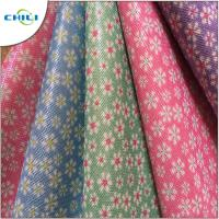 Wholesale Colored Fake Leather Material , Faux Tooled Leather Fabric Vinyl Based For Diy Crafts from china suppliers