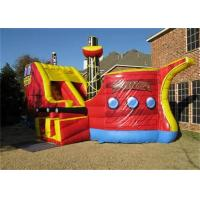 Wholesale Durable Outdoor Inflatable Pirate Ship Bouncer / Bounce Houses With Slides from china suppliers