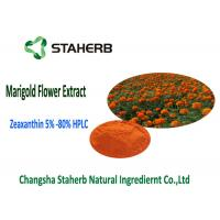 Quality orang Yellow Marigold Extract Powder Lutein / Zeaxanthin Contained 10-80% Purity for sale