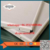 Wholesale aluminum perforated acoustic ceiling panel for building decoration from china suppliers