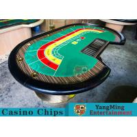 Wholesale 8 Person Casino Luxury Poker Table With Thick Black Camphor Wood Fire Panel from china suppliers