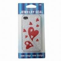 Wholesale Sticker for iPhone 4 in Heart Design, Available with Plastic Case, Safe and Non-toxic from china suppliers