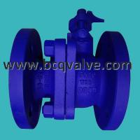 Quality 2-pc flanged DIN F4 standard PN16-40 carbon steel ball valve for sale