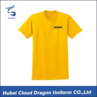 Yellow cotton spandex Security Guard T Shirts , police tee shirts for Summer