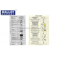 Quality Disposable 70g Voting Ballot Paper Color Customized For Election Campaign for sale