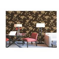 Wholesale Home Decoration PVC Embossed Wallpaper Waterproof With European Flower from china suppliers