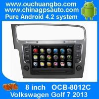 Quality Ouchuangbo Android 4.2 DVD Radio GPS Navi for Volkswagen Golf 7 2013 3G Wifi Audio SD WIFI for sale