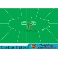 Wholesale Texas Holdem Standard Casino Table Layout Green With 100% Polyester Fabric from china suppliers