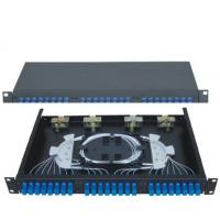 China SC24 Rack-Mounted Fiber Optic Patch Panel apply in working as distribution box on sale