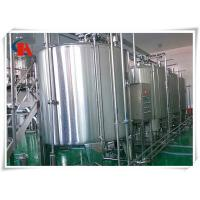 China Small Scale Milk Production Line Air Conveyor Connects With Bottle - In Star Wheels on sale