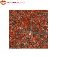Wholesale Polished Flamed Granite Stone , India Imperial Flower Red Granite Slab from china suppliers