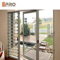 Grey Color PVDF Aluminium Hinged Doors With Outward Opening Direction for sale