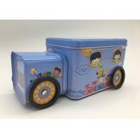 Wholesale Candy Storage 2 Tin Branded Gift Boxes Blue Car Shape With Four Wheels For Kids from china suppliers