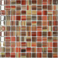 China Hand drawing crystal glass mosaic tiles for sale on sale