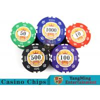 Wholesale Sticker Pure Casino Poker Chip Set With UV Logo , Ceramic Poker Chip Sets  from china suppliers