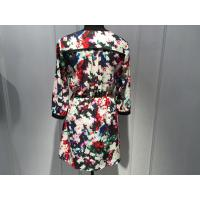 Quality Sexy Womens Floral Blouse , Floral Summer Dresses Deep V Neck BGW008 for sale