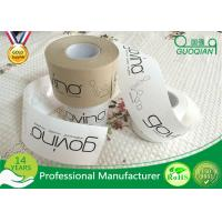 Quality Brown / White Color Kraft Paper Tape Customized Reinforced Gummed Kraft Paper Tape for sale