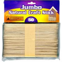 Wholesale Jumbo Natural Craft Stick birch wood sticks 50 Per Pack from china suppliers
