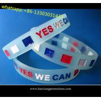 Custom embossed/imprinted/printed logo Silicone Wristband,silicone bracelet with stone for sale