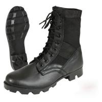 Wholesale Leather Black Military Jungle Boots Canvas Nylon Upper For Camping from china suppliers