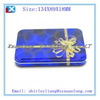 Wholesale print flat lid heart shape chocolate tin box from china suppliers