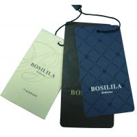 Wholesale Coated Paper Clothing Hang Tags, Custom Garment Tag Silk Screen / Offset Printing from china suppliers