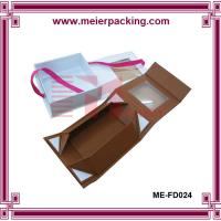 Wholesale Paper gift box with ribbon, custom collapsable box with PVC window ME-FD024 from china suppliers