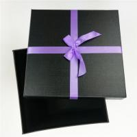 Wholesale Custom Produce Gray Board Black Square Gift Box From China Factory from china suppliers
