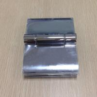 Quality 180 degree bathroom glass door hinge , cambered cover zinc alloy hinge for sale