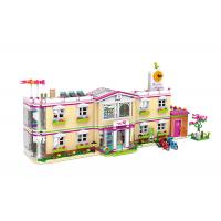 Wholesale DIY School Villa Hospital Plastic Building Blocks Educational Toys Assemble Lego Bricks from china suppliers