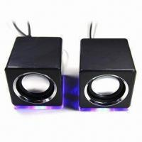 Wholesale 2.0 Mini Speaker with LED Light and Fashionable Design from china suppliers