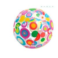 """Quality Jumbo Inflatable Beach Ball 42"""" Large Diameter Crystal Clear-Translucent Dots for sale"""