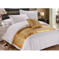 Wholesale Custom Printed Polyester Canvas Gold Bed Runner / Burlap Table Runner from china suppliers