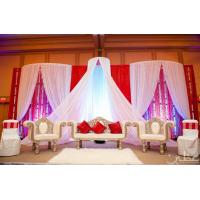 Quality Cheap white drapes for weddings /backdrops pipe and drapes for wedding for sale