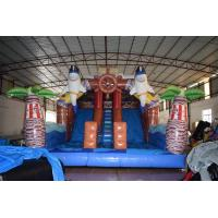 China Pirate Themed Dolphins Commercial Inflatable Water Slides For Rental In Amusement Park for sale