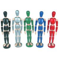 Wholesale Life - Sized Wooden Drawing Figure Model , Colourful Flexible Poseable Art Mannequin from china suppliers