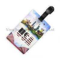 Wholesale 10.5*6.5cm, EN71-3, Full Color Printed US Flag Sydney Opera Statue of Liberty PVC Rubber Blank Luggage Tag JGLT0016 from china suppliers